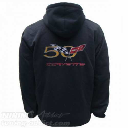 HOODIE CORVETTE 50 YEARS SWEAT CAPUCHE