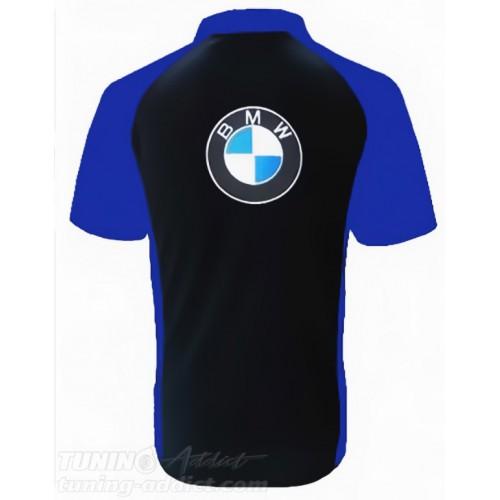 POLO BMW COULEUR NOIR ET BLEU