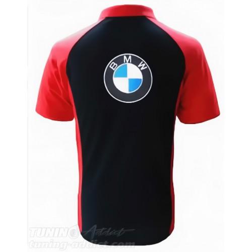 POLO BMW COULEUR NOIR ET ROUGE