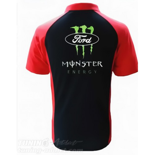 POLO FORD MONSTER RACING COULEUR NOIR ET ROUGE