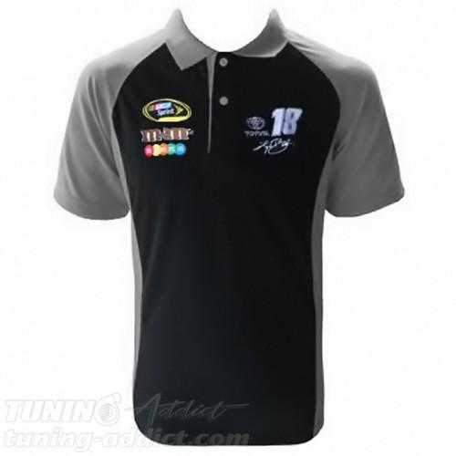 POLO NASCAR COULEUR NOIR ET GRIS