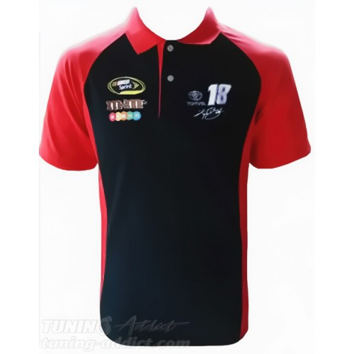 POLO NASCAR COULEUR NOIR ET ROUGE