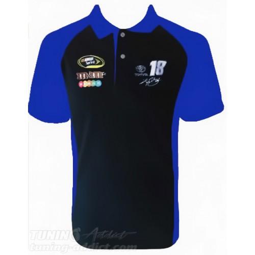 POLO NASCAR MM COULEUR NOIR ET BLEU