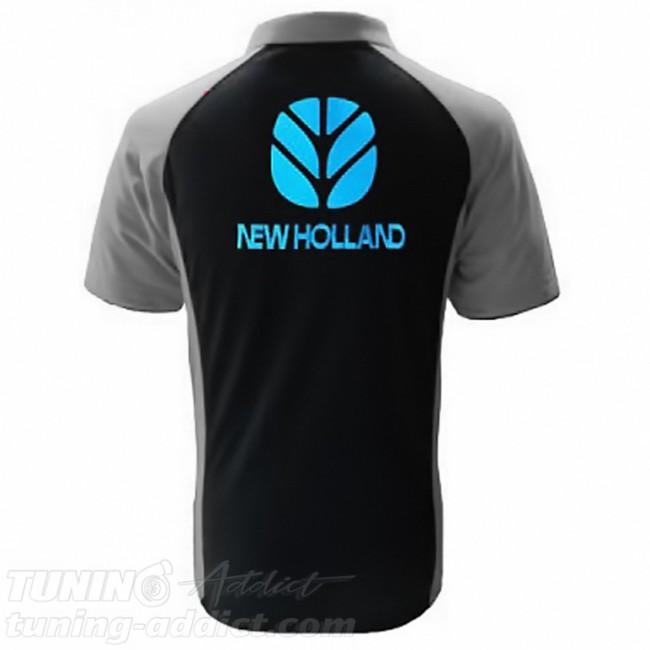 POLO NEW HOLLAND COULEUR NOIR ET GRIS