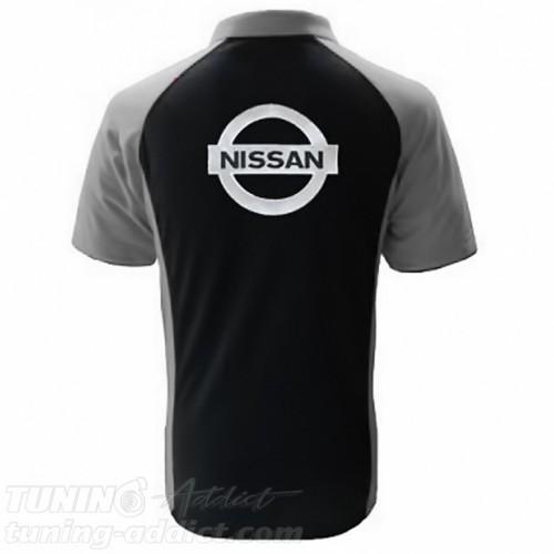 POLO NISSAN - NOIR / GRIS