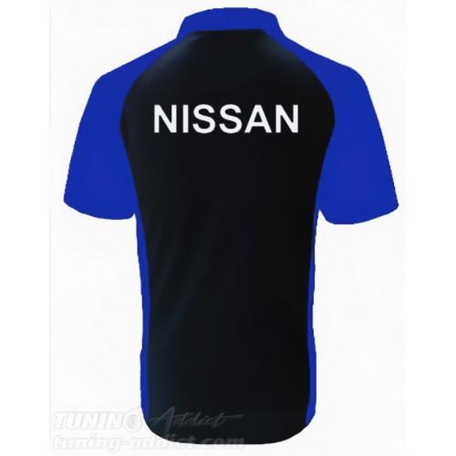 POLO NISSAN GTR - NOIR / BLEU