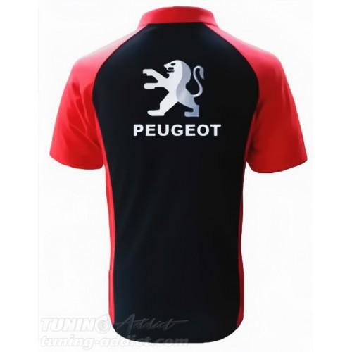 POLO PEUGEOT - NOIR / ROUGE