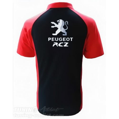 POLO PEUGEOT RCZ - NOIR / ROUGE