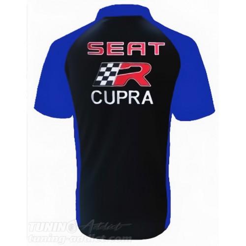 POLO SEAT CUPRA - NOIR / BLEU